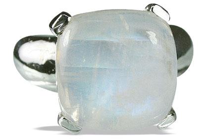 Design 14126: white moonstone mens rings