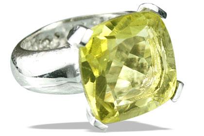 Design 14128: green,yellow lemon quartz mens rings
