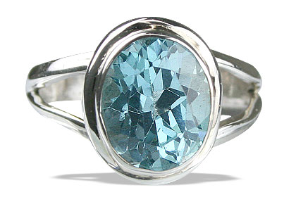 Design 14131: blue blue topaz engagement, mens rings