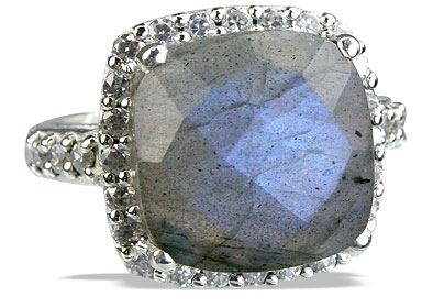 Design 14135: blue,gray,white labradorite vintage rings