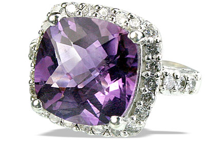 Design 14136: purple amethyst vintage rings