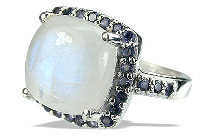 Design 14139: blue,white moonstone vintage rings