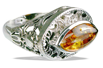 Design 14142: yellow amber classic, estate rings