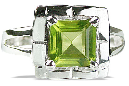 Design 14149: green peridot mens rings