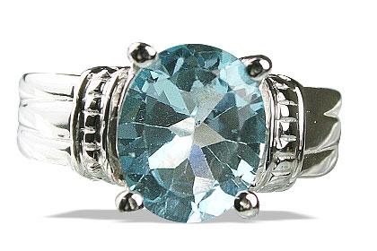 Design 14156: blue blue topaz gothic-medieval rings