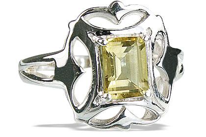 Design 14160: yellow citrine contemporary rings