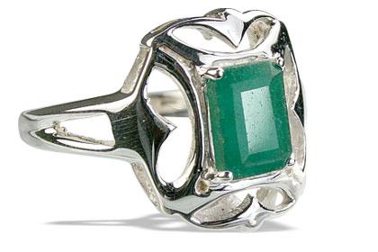 Design 14161: green emerald contemporary rings