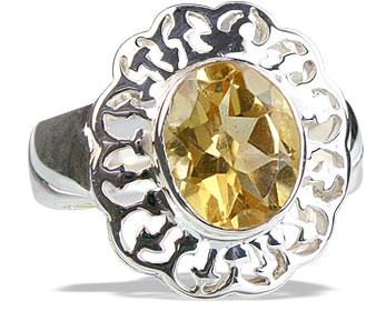 Design 14166: yellow citrine flower rings