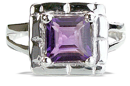 Design 14169: purple amethyst mens rings