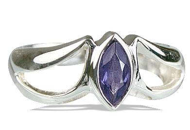Design 14171: blue iolite contemporary rings