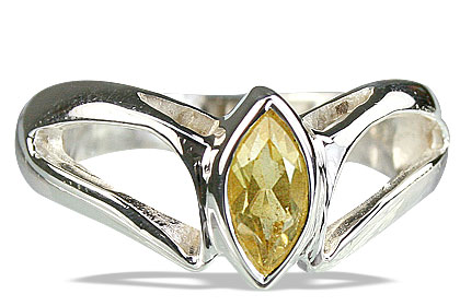 Design 14173: yellow citrine contemporary rings