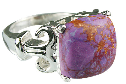 Design 14187: purple mohave mens rings