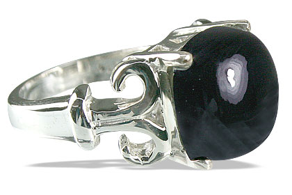 Design 14190: black onyx mens rings