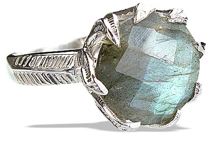 Design 14192: blue,gray labradorite cocktail rings