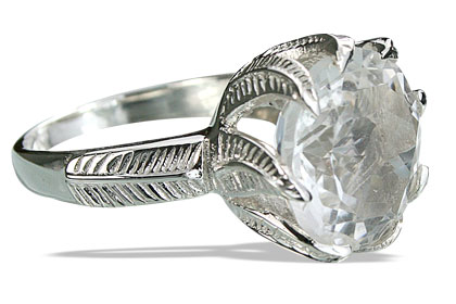 Design 14195: white crystal cocktail rings