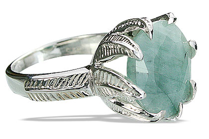 Design 14196: green emerald cocktail rings