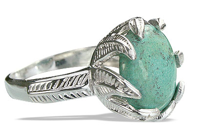 Design 14197: green turquoise cocktail rings