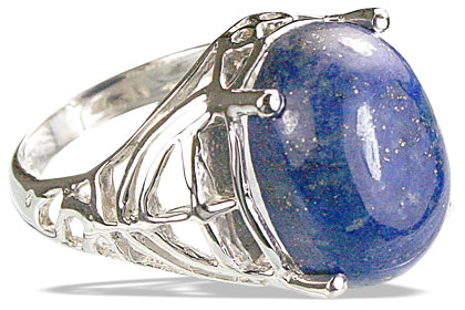 Design 14200: blue lapis lazuli contemporary rings