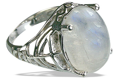 Design 14203: white moonstone contemporary rings
