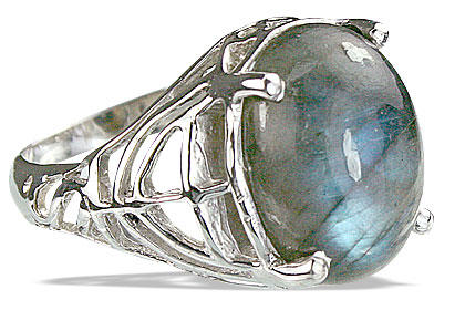 Design 14204: blue,gray labradorite contemporary rings