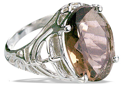 Design 14205: brown smoky quartz contemporary rings