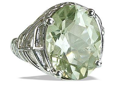 Design 14208: green green amethyst contemporary rings