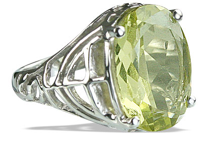 Design 14209: yellow lemon quartz contemporary rings