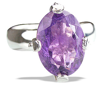 Design 14215: purple amethyst contemporary rings