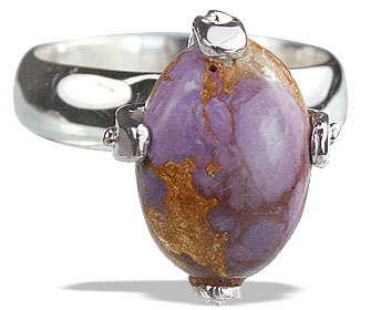 Design 14216: purple mohave contemporary rings