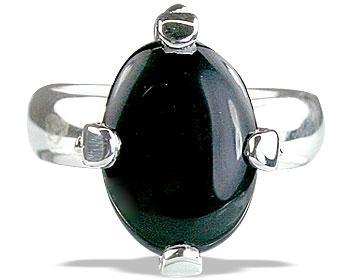 Design 14217: black onyx contemporary rings