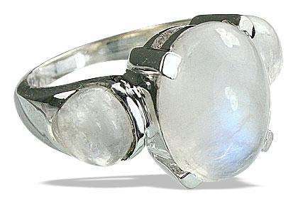 Design 14219: white moonstone cocktail rings