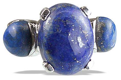 Design 14222: blue lapis lazuli cocktail rings