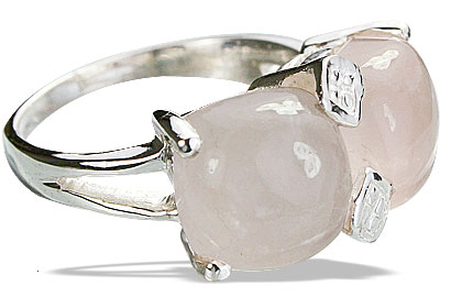 Design 14225: pink rose quartz contemporary rings