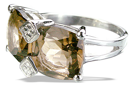Design 14228: brown smoky quartz contemporary rings