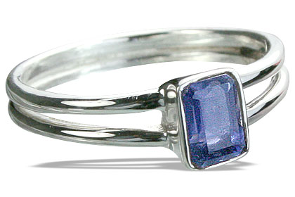 Design 14230: blue iolite mens rings