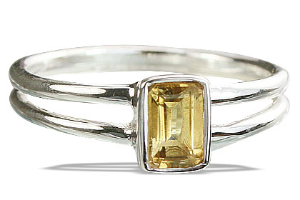 Design 14232: yellow citrine contemporary rings