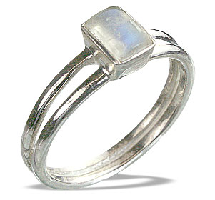 Design 14233: white moonstone contemporary rings