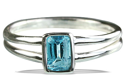 Design 14235: blue blue topaz contemporary rings
