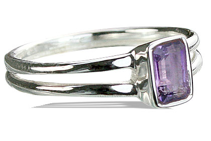 Design 14236: purple amethyst contemporary rings