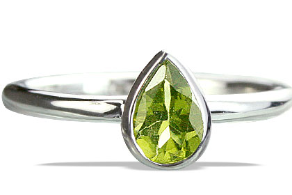 Design 14238: green peridot contemporary rings