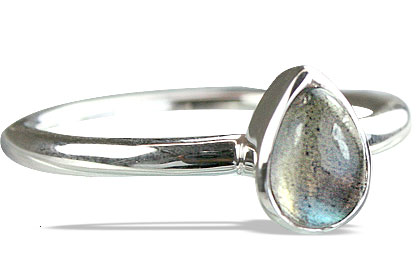 Design 14241: blue,gray labradorite contemporary rings