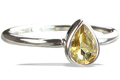 Design 14242: yellow citrine contemporary rings