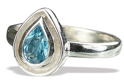 Design 14243: blue blue topaz contemporary rings