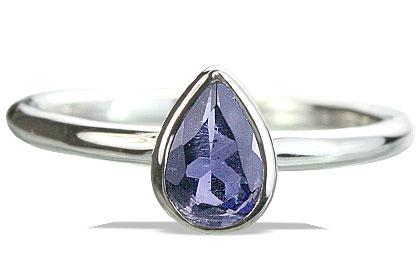 Design 14246: blue iolite contemporary rings