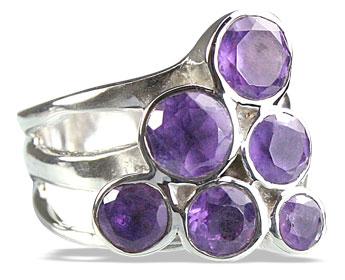 Design 14247: purple amethyst cocktail rings