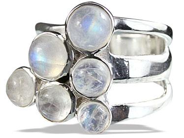 Design 14248: white moonstone cocktail rings