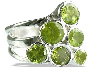 Design 14249: green peridot cocktail rings