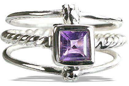 Design 14254: purple amethyst contemporary rings