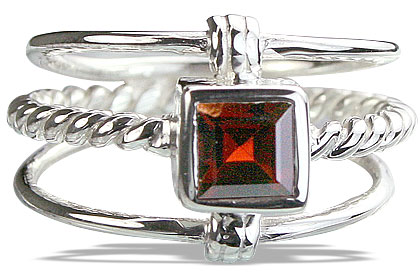 Design 14255: red garnet contemporary rings