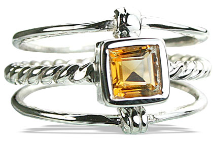 Design 14257: yellow citrine contemporary rings